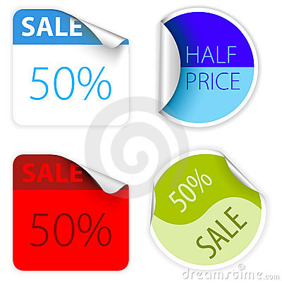 Set of fresh two colors sale labels
