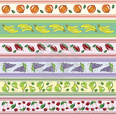 Set of fruit banners