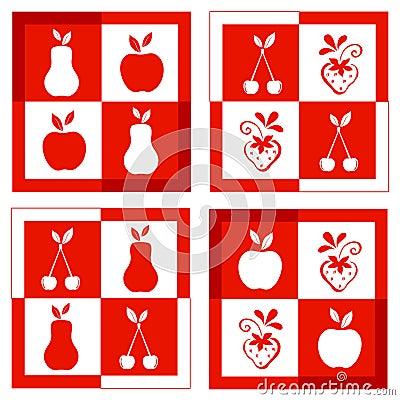 Set of fruit frames