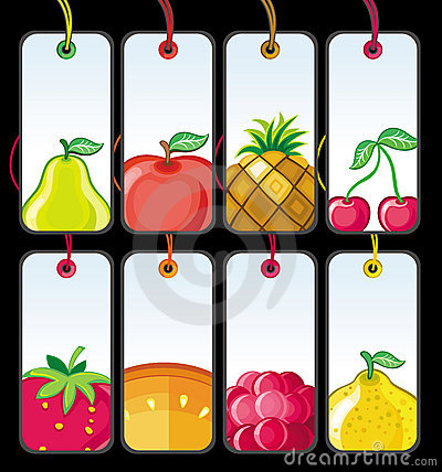 Set of fruit tags #1
