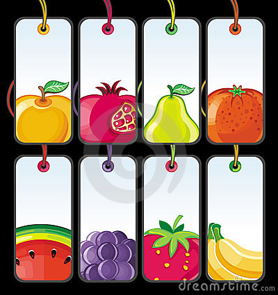 Set of fruit tags #2.