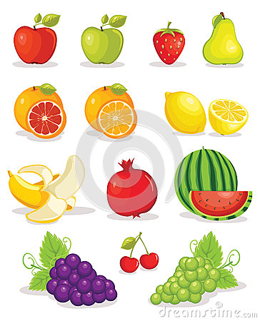 Set of fruits  illustration