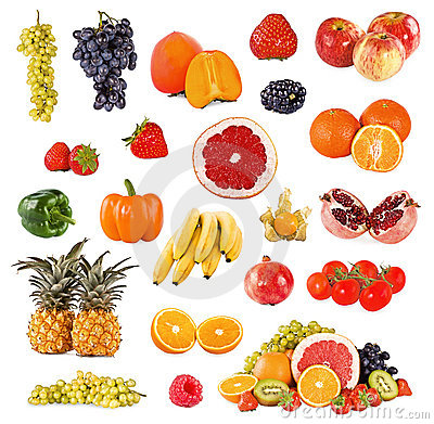 Set of fruits and vegetable