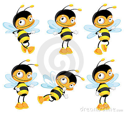 Set funny bee
