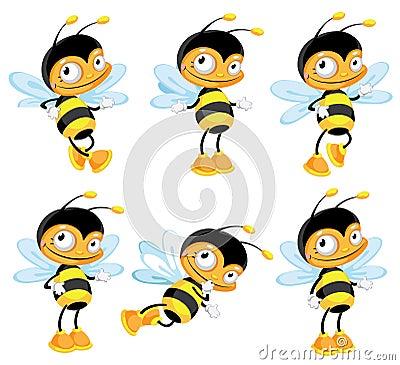 Set funny bee