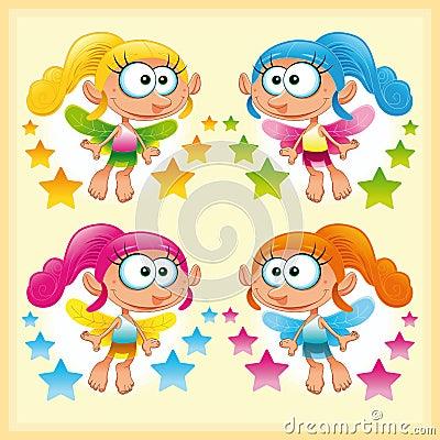 Set of funny Fairy