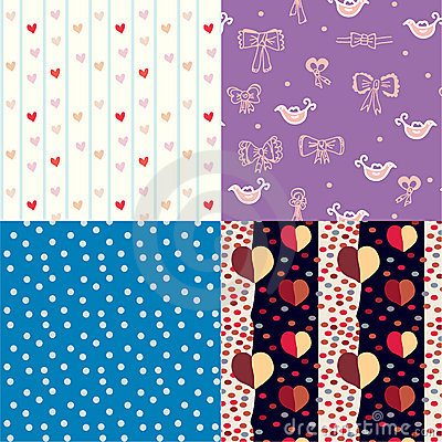 Set of funny seamless pattern