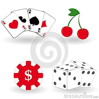 Set of gambling icons