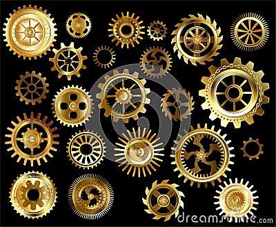 Set of gears Vector Illustration