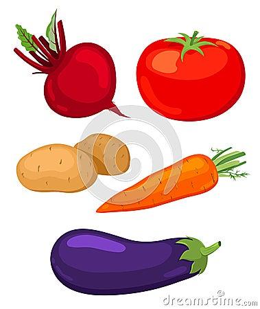Set Gemüse.