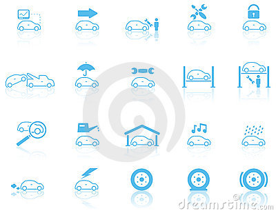Set of general motor maintenance icons