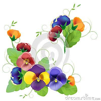 Set of gentle floral