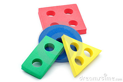 Set of geometric shapes for children
