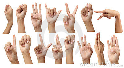 Set of gesturing hands isolated ...
