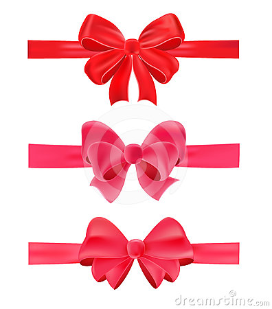 Set of gift bows