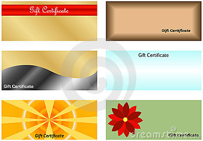 Set of Gift Certificates