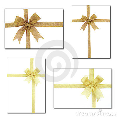 Set of gift ribbon and bow