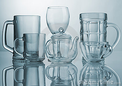 Set of glass dishes