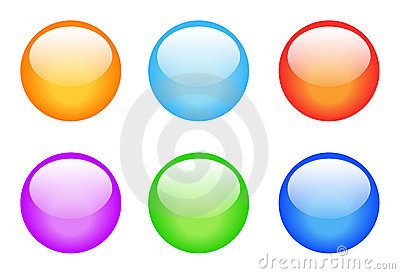 Set of glassy buttons