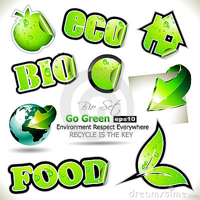 Set of Go Green Bio Tags