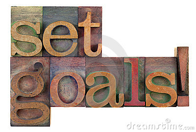 Set goals - motivational reminder