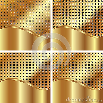 Set of gold backgrounds 4