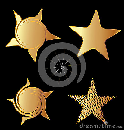 Set of gold stars logo