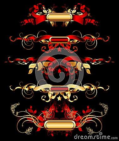 Set of golden design elements