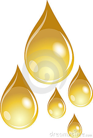 A set of golden waterdrops