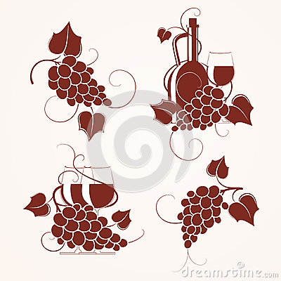 Set of grape design