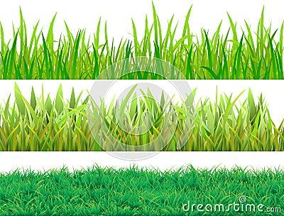 Set grass Vector Illustration