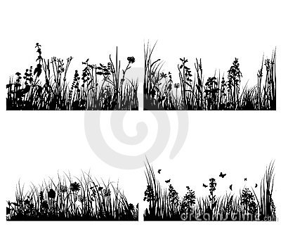 Set of grass backgrounds