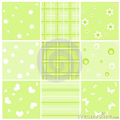 Set green baby seamless.