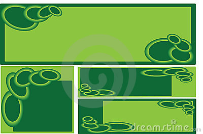 Set of green business banners