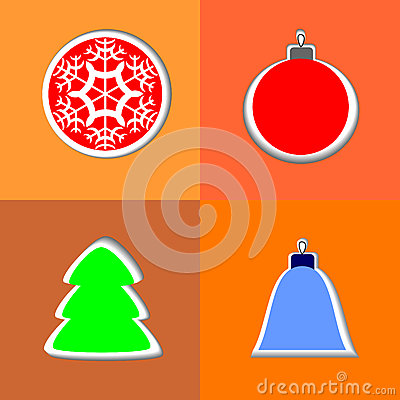 Set of greeting icon happy new year