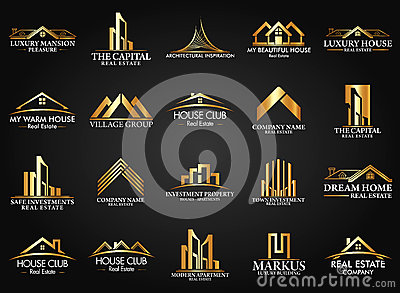 Set and Group Real Estate, Building and Construction Logo Vector Design Vector Illustration