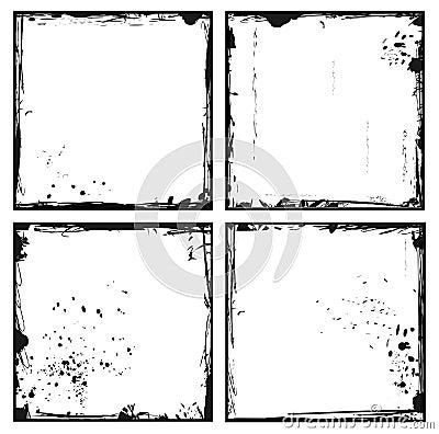 Set grunge frames