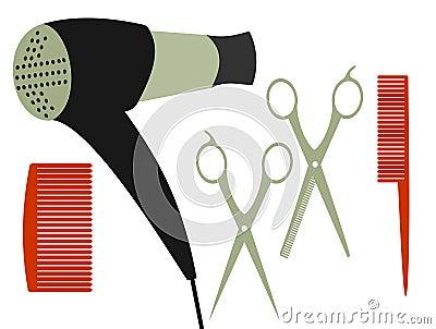 Set for haircut
