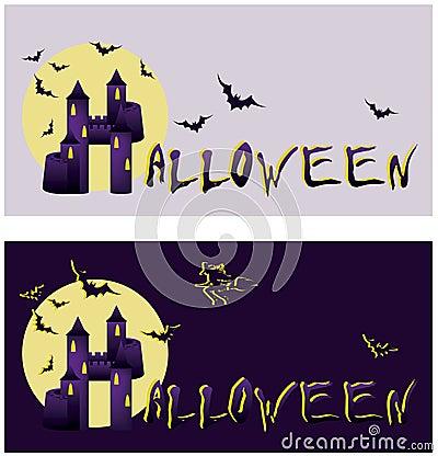 Set halloween banners