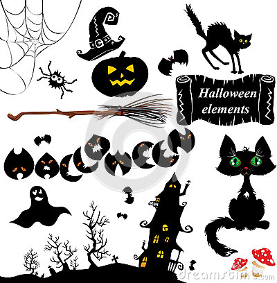 Set of  Halloween elements