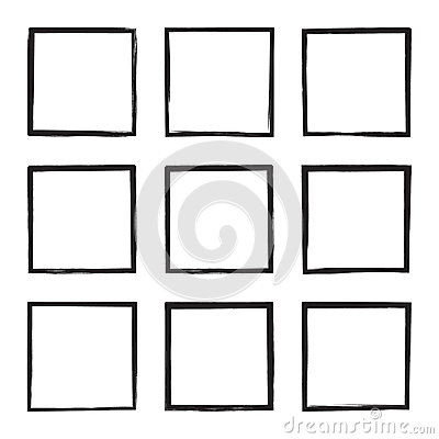 Free Set Hand Drawn Square. Royalty Free Stock Images - 84655759