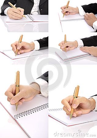 Set Of Hand Writing Woman