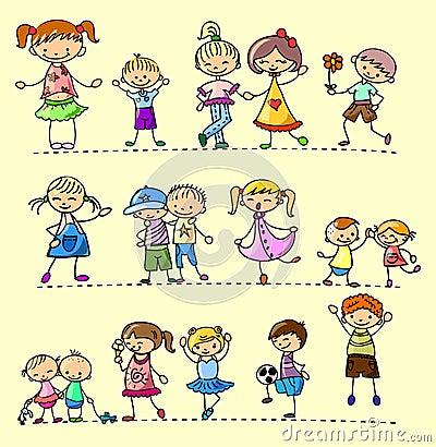 Set happy children,vector