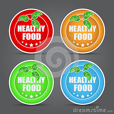 Set of Healthy food icon.