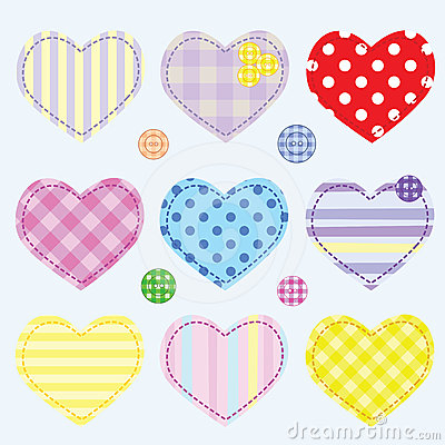 Set hearts and buttons