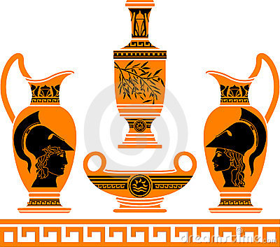 Set of hellenic vases