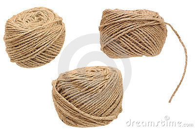 Set hemp cord roll