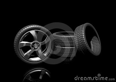 A set of high performance tyres