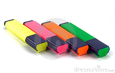 Set of highlighters