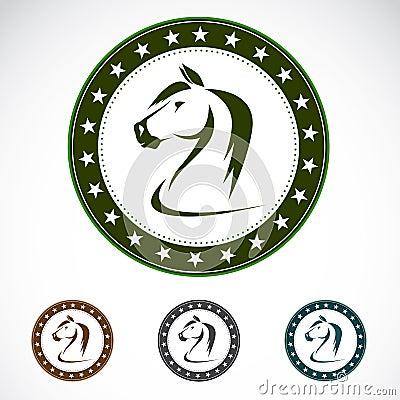 Set of  horse label